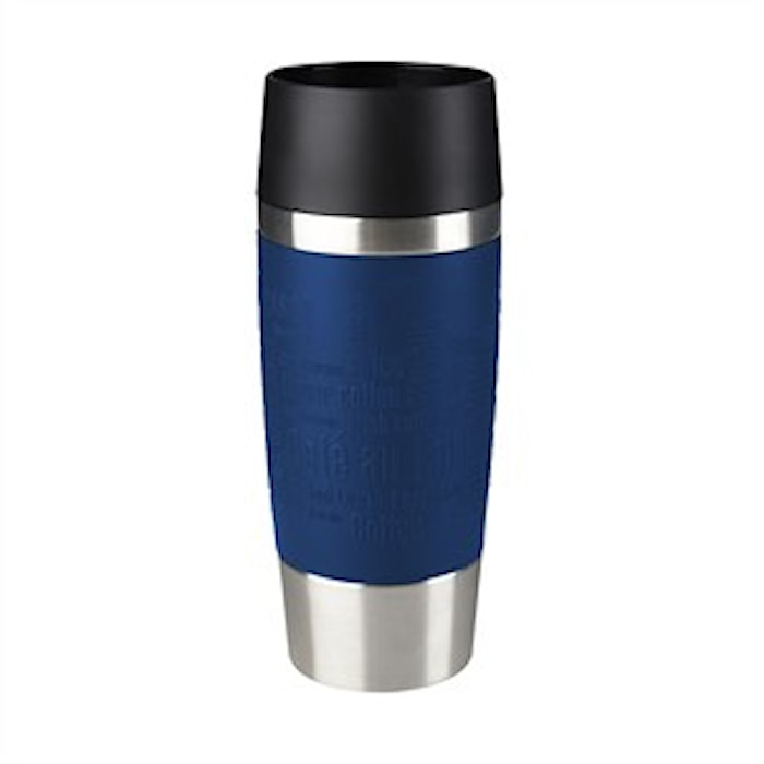TRAVEL MUG 0.36L blue sleeve