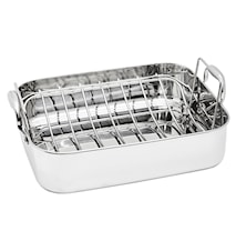 Roaster pan with Grill 37.5x29 cm Stainless steel