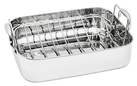 Roasting Pan with Rack 37.5x29 cm Stainless Steel