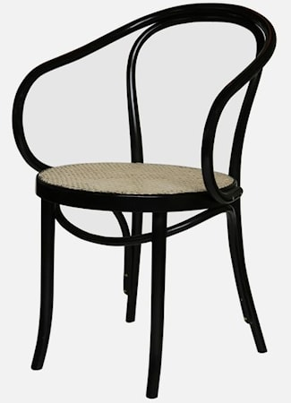Thonet No 30 karmstol med Rottingsits