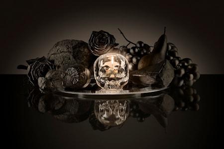 Still Life Skull Röd Ljuslykta Ø11,5 cm