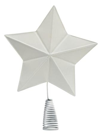 Toppstjärna Metall Julgran Vit 32cm
