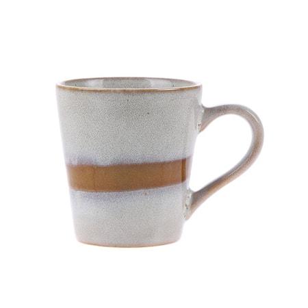 70's Keramik Espressokopp Vit