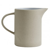Stoneware kannu, beige/valkoinen