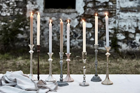 Candle Holder Signe 30cm Silver