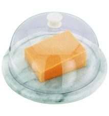 Glassbowl for cheese marble