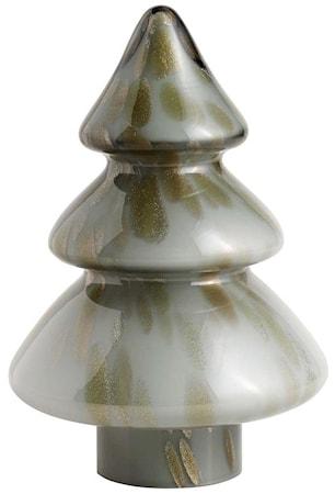 Julgran Glas Grå/Guld Medium