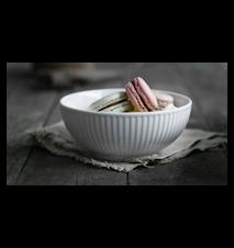 Plissé skål hvit, 60 cl Ø 15 cm