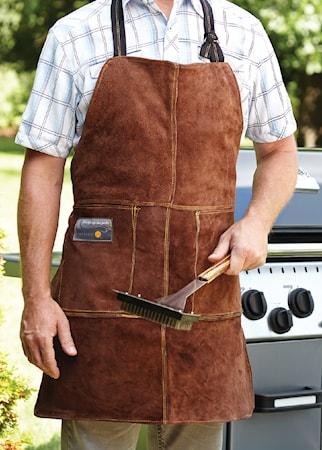 Outset GrillForklæde i læder (one size)