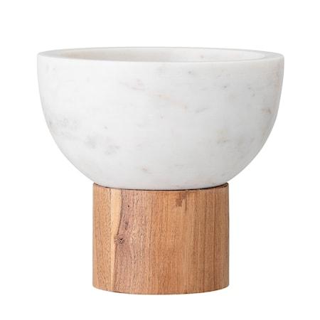 Serveringsskål Vit Marmor 14,5 cm