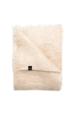 Mohairplaid Lawrence 120x170 cm - Beige