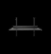 Sector Skrivbord Svart 87x45.1 cm