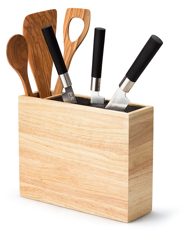 Knife Block with Utensils Compartment
