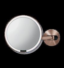 Väggmonterad Sensor Spegel Roséguld 20 cm