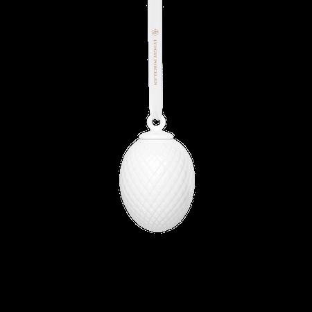 Rhombe Påskevedhæng Hvidt Porcelæn 7,5 cm