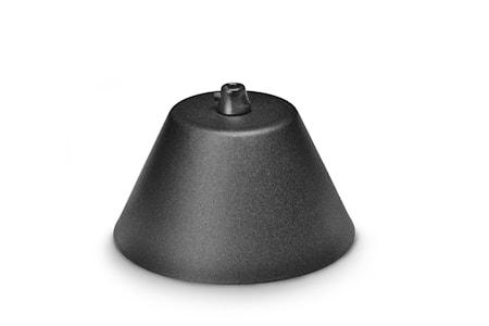 Tak-kopp med strekkavlasntning Sort 13cm