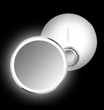 Sensor Spegel Kompakt Vit Rostfritt Stål 10 cm