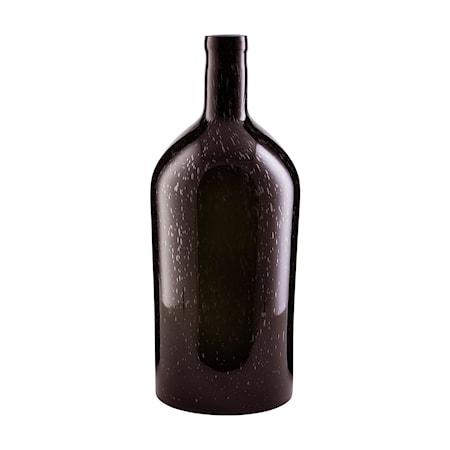 Vase, Bottle, Mørk brun, Vandtæt ,h: 45 cm, dia: 19 cm