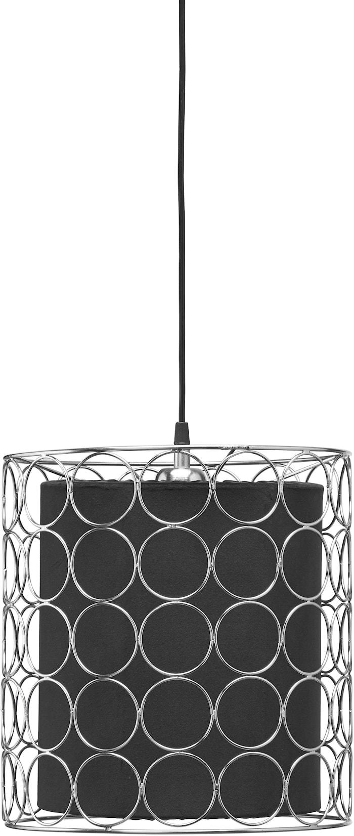 Ring Taklampa 30cm Krom/Svart