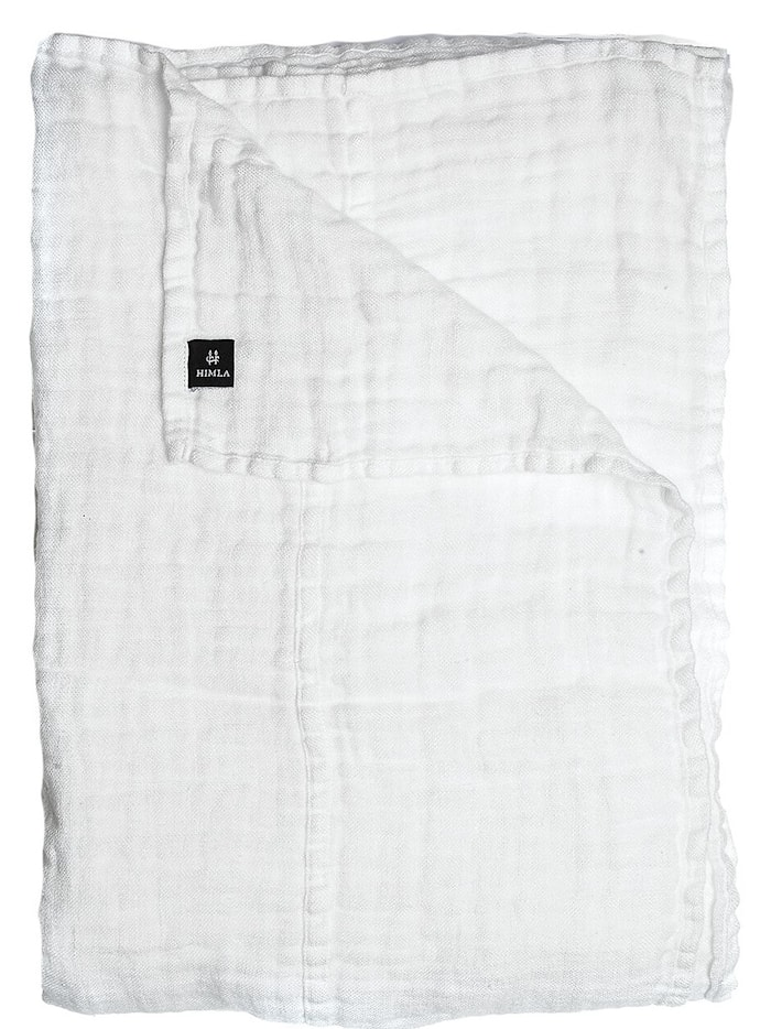 Överkast Hannelin white/white 160x260