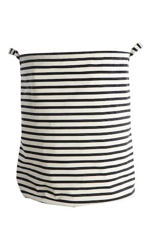 Tvättkorg Stripes Ø 40x50 cm Svart/Vit