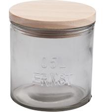 Trælåg til glasbeholder d10 cm