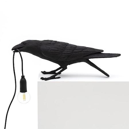 Bird Lamp Playing Svart