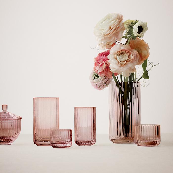 Vase Munnblåst Glass Burgundy 25cm