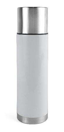 Ståltermo 0,75 L, stål/hvid