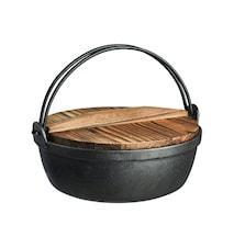 Set pot en fonte Nabe avec couvercle Ø 27 cm 3,6L