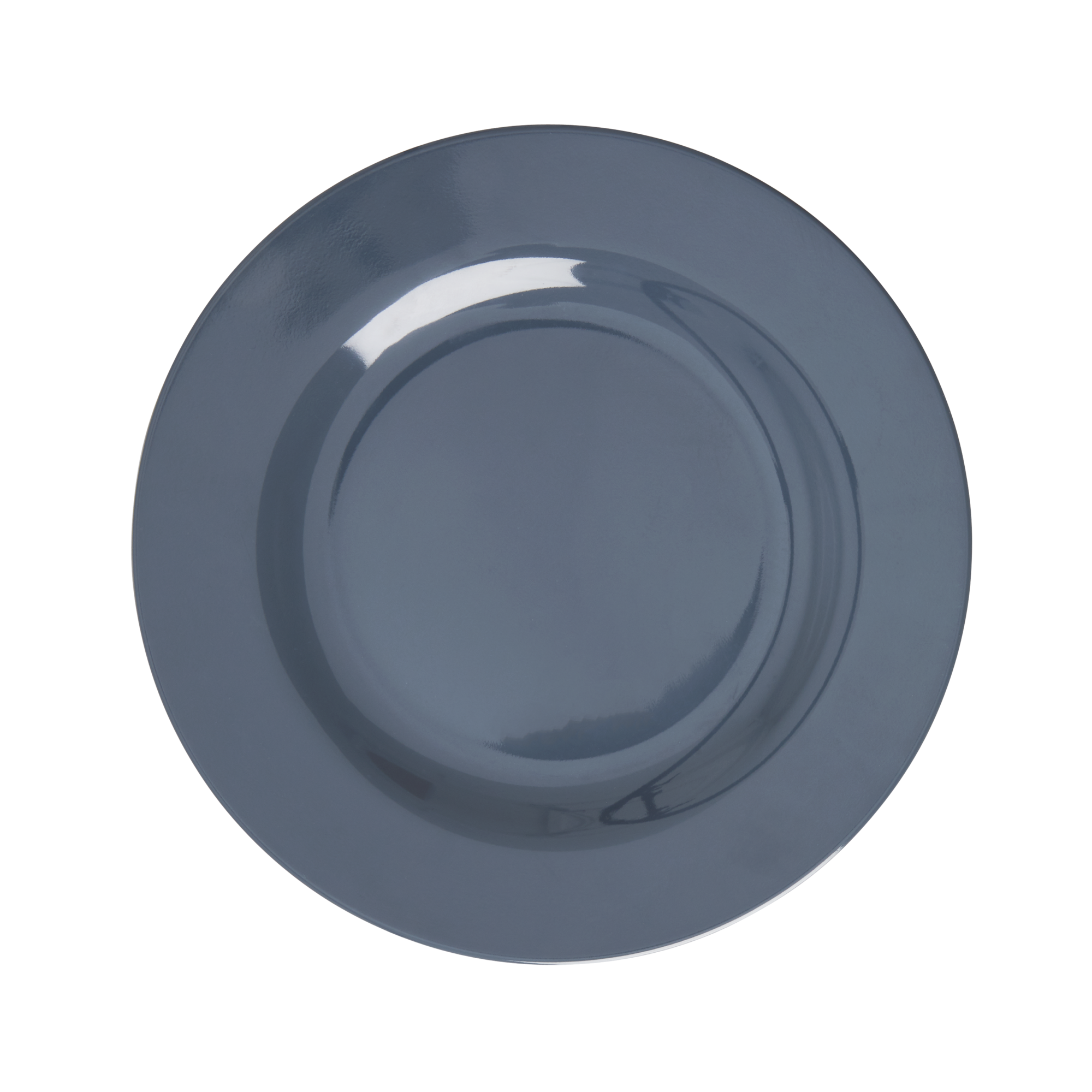 Assiette Melamin D:20 cm Mörkgrå