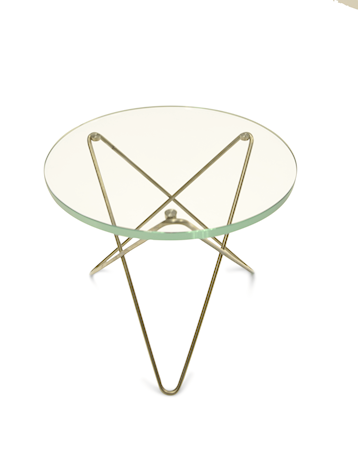 OX DENMARQ Mini O-table glass sidobord ? Green/brass
