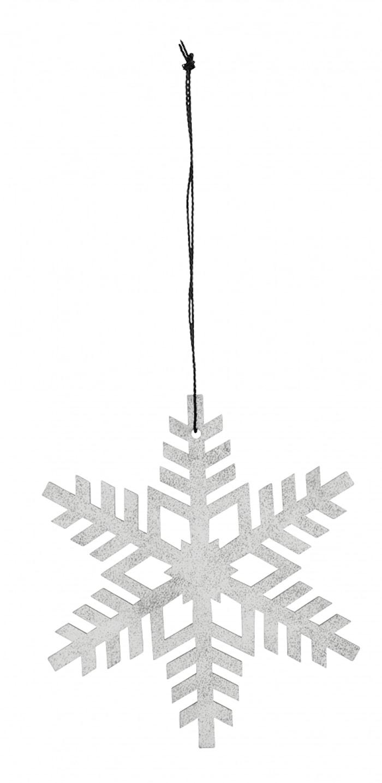 Christmas hanger, snowflake,white/silver