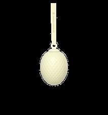 Rhombe Påskevedhæng Soft yellow Porcelæn 7,5 cm