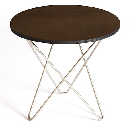 OX DENMARQ Mini o-table leather sidobord ? Mocca/stainless