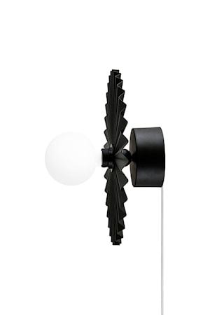 Plafond/Vägglampa Omega 35 Svart