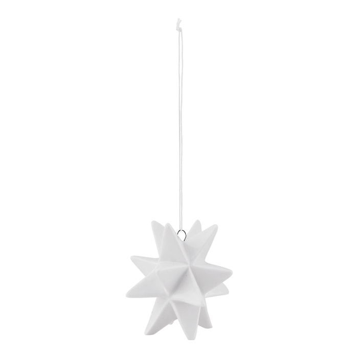 Ornament Star 3,8 cm - Hvit
