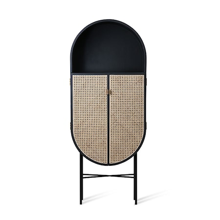Retro Oval Cabinet Black