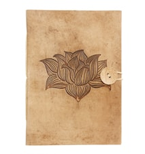 Notebook, Lotus flower, leather, large