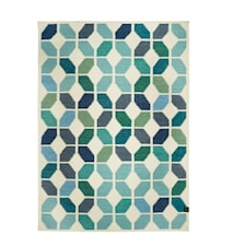 Tropical teppe white/aqua – 170x230