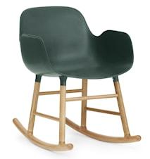 Form rocking chair stol med armlene eik - Green