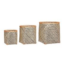 Nature bamboo kurv 3 st