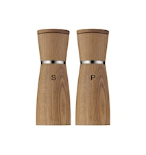 Ceramill Salt Mill and Pepper Mill Oak/Clear 13,8 cm