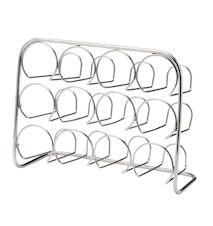 Pisa Spice Rack 12 Jar - chrome