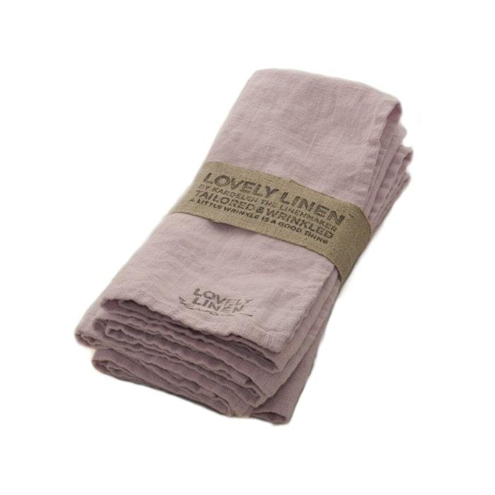 Lovely linen servett – Dusty pink
