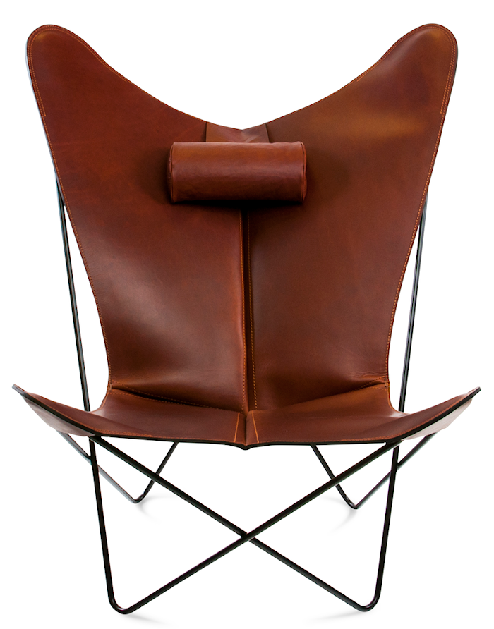 KS Chair Flaggermuslenestolen - Black/cognac