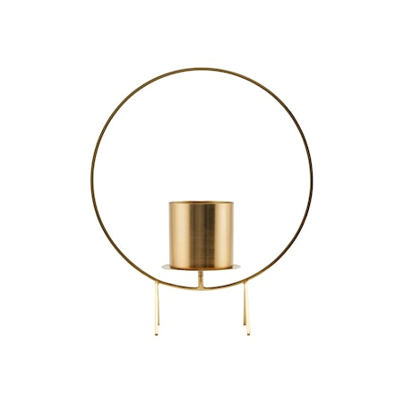 House Doctor Stearinlysholder Circle Brass 40 cm