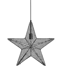 Orion hanging star Svart 44cm