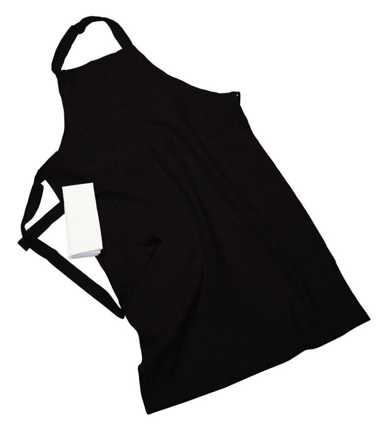 Erik classic lång förkläde – Med handduk black