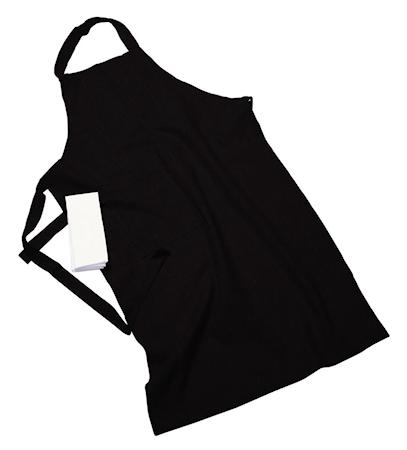 Erik classic langt forkle – Med håndduk, black